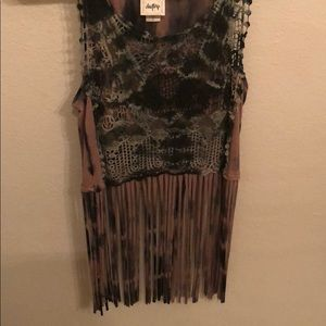 Buckle Daytrip fringe shirt small